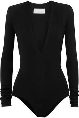 Alexandre Vauthier Stretch-crepe Bodysuit - Black