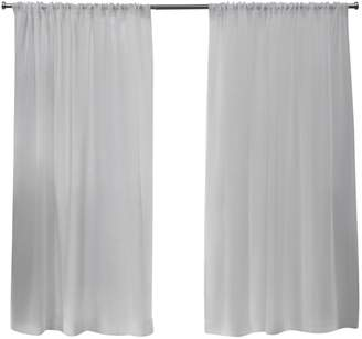 Home Outfitters Belgian Sheer Rod Pocket Top Curtain Panel
