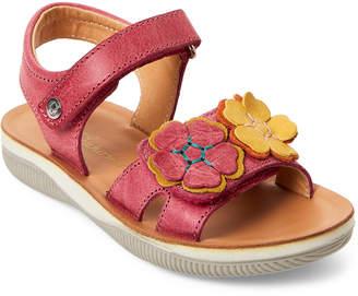 Naturino Toddler/Kids Girls) Fuchsia Floral Flat Sandals