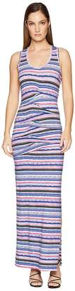 Nicole Miller Vanessa Tidal Pleat Maxi Women's Dress