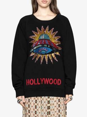 Gucci UFO embroidered sweatshirt