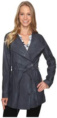 Calvin Klein Jeans Marble Wash Self Tie Outerwear Women's Coat