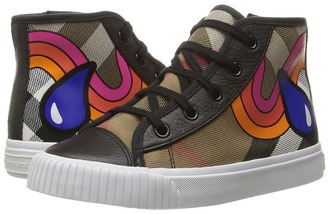 Burberry Kids - Warslow Rainbow Girl's Shoes $225 thestylecure.com