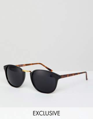 Reclaimed Vintage Inspired Round Sunglasses In Black Exclusive To ASOS