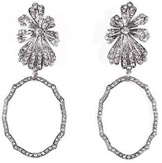 Lulu Frost Women Silver Plated Statement Earrings E582