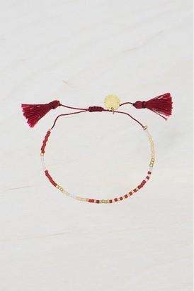 French Connenction Beaded Tassel Bracelet