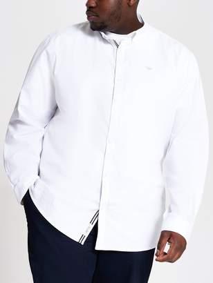 Long Sleeve White Big & Tall Oxford Shirt