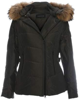 Oakwood Medaille Khaki Padded Fur Trim Hooded Jacket