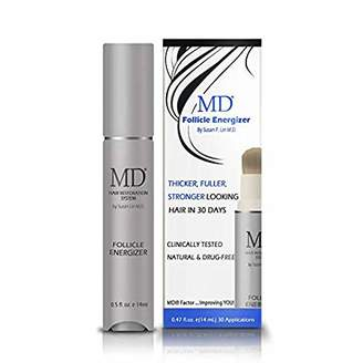 Factor= MD Factor Natural Hair Growth Serum | Follicle Energizer Serum - Prevents Thinning Hair & Hair Loss By Stimulating Hair Follicles To Produce Thicker