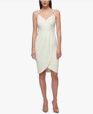 GUESS Faux-Wrap Slip Bandage Dress $128 thestylecure.com