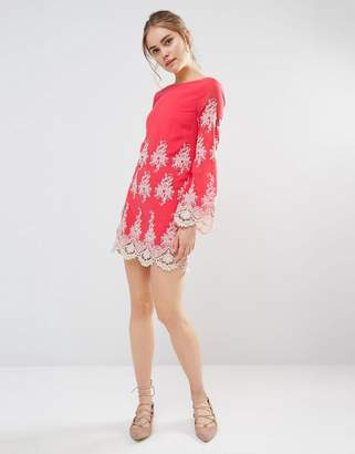 Endless Rose Lace Long Sleeve Mini Dress