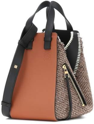 Loewe Hammock Small tweed shoulder bag