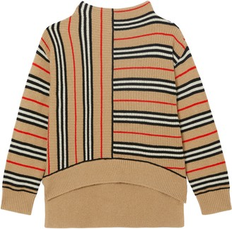 Burberry Bianca Stripe Funnel Neck Sweater
