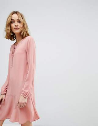 Vero Moda Swing Dress with Lace Up Detail