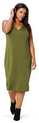 dc0e9f4ddc5 Daily Ritual Women s Plus Size Jersey Sleeveless V-Neck Dress