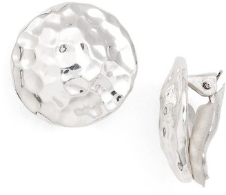 Women's Simon Sebbag Hammered Circle Clip Earrings $98 thestylecure.com