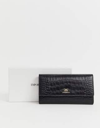 Emporio Armani Ladies' wallet with Snap Closure