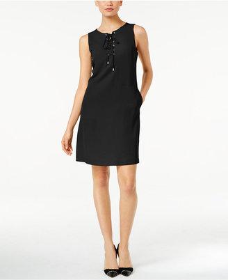 Calvin Klein Lace-Up Sheath Dress $129.50 thestylecure.com