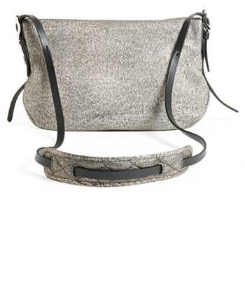 Jimmy Choo 'Biker - Small' Metallic Suede Crossbody Bag