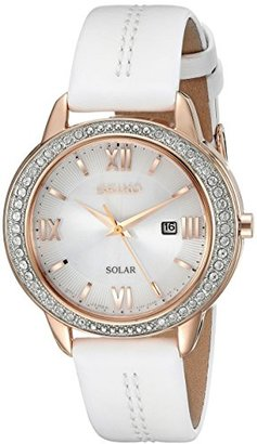 Seiko Women's SUT248 RECRAFT Solar Analog Display Japanese Quartz White Watch $187.50 thestylecure.com