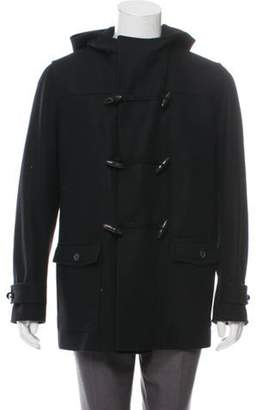 Christian Dior Hooded Wool Coat black Hooded Wool Coat