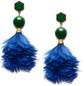 Tory Burch FEATHER DROP EARRING