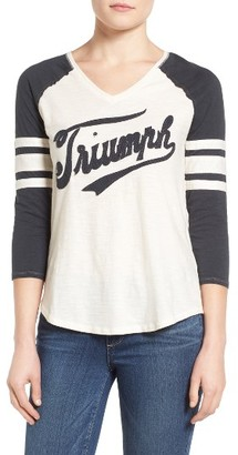 Women's Lucky Brand Triumph Football Tee $49.50 thestylecure.com