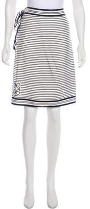 Loewe Crepe De Chine Striped Skirt