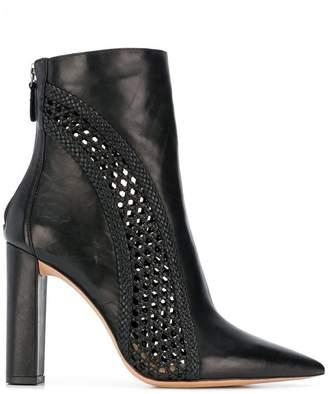 Alexandre Birman mesh detail ankle boots