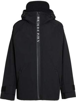 Burberry Bungee Cord Detail Hooded Parka