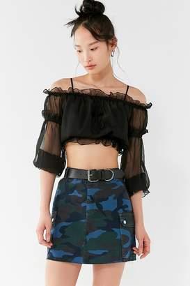 BDG Overdyed Camo Mini Skirt