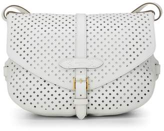 Louis Vuitton White Perforated Leather Saumur 30