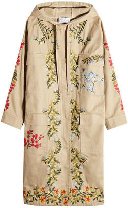 RED Valentino Embroidered Cotton Parka