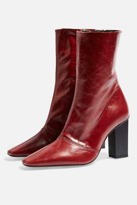 Topshop HENNA Leather Boots