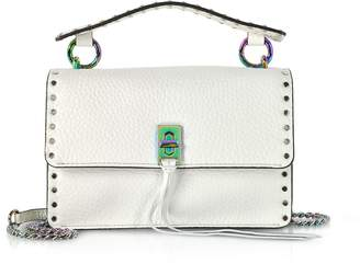 Rebecca Minkoff Bianco Leather Darren Top Handle Flap Crossbody