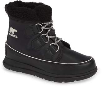 Sorel Explorer Carnival Waterproof Boot with Faux Fur Collar