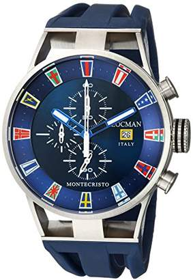 Locman Italy Men's 'Montecristo Yacht Club CH' Quartz Stainless Steel and Rubber Diving Watch