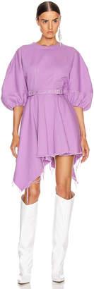 Marques Almeida Marques ' Almeida Balloon Sleeve Dress in Purple | FWRD