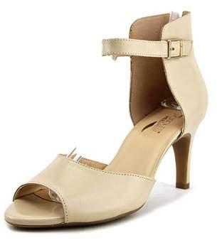 Aerosoles Flamboyant Open-toe Leather Heels.