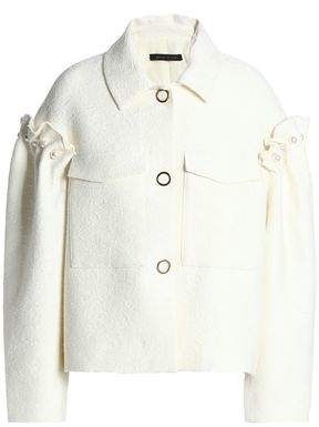 Mother of Pearl Faux Pearl And Ruffle-Trimmed Jacquard Jacket