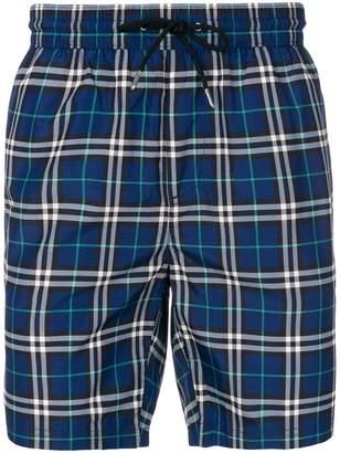 Burberry house check swim shorts