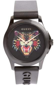 Gucci - Gg Timeless Angry Cat Watch - Mens - Green Multi