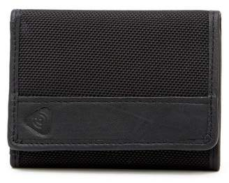 Lewis N. Clark RFID Blocking Ballistic Nylon & Leather Trimmed Trifold Wallet