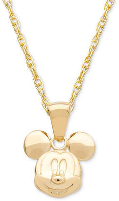 "Disney (ディズニー) - Disney Children's Mickey Mouse 15"" Pendant Necklace in 14k Gold"