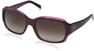 DKNY Women's Plastic Woman Rectangular Sunglasses