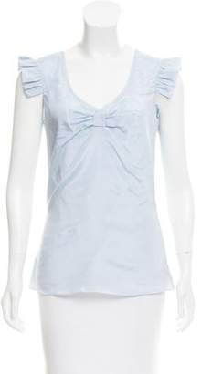 Karl Lagerfeld Silk-Blend Top w/ Tags
