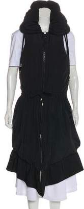 Thomas Wylde Ruffle-Accented Down Vest
