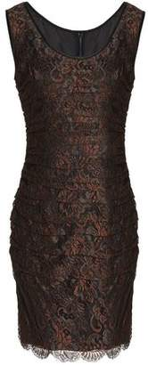 Dolce & Gabbana Ruched Corded Lace Dress