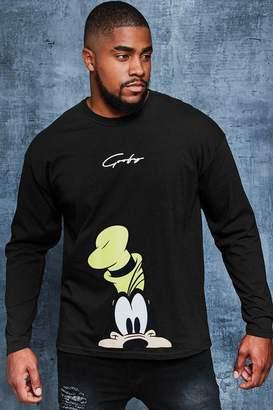 boohoo Big And Tall Disney Goofy Loose Fit T-Shirt