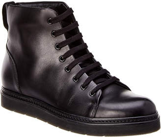 Vince Leather Lace-Up Boot